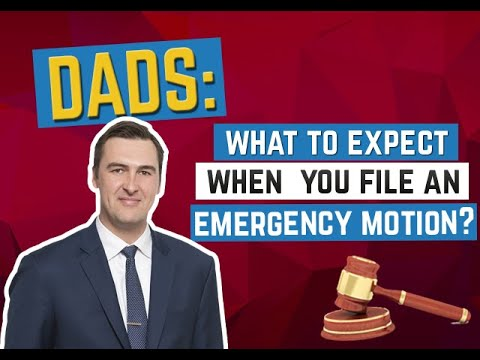 What to Expect When You File an Emergency Motion