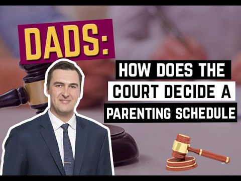 How Does the Court Decide a Parenting Schedule